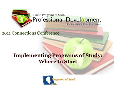 Implementing Programs of Study: Where to Start 2011 Connections Conference.