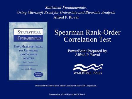 Spearman Rank-Order Correlation Test