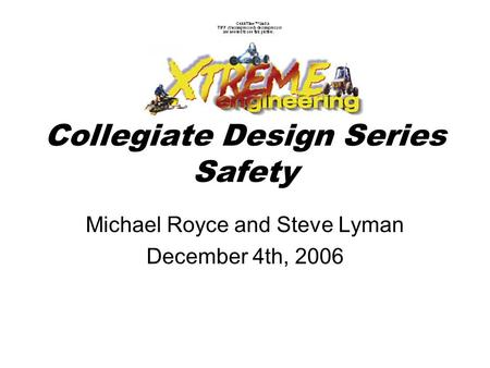 Collegiate Design Series Safety