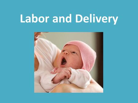 Labor and Delivery.