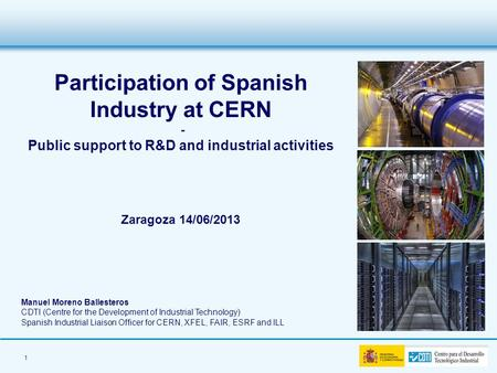 Participation of Spanish Industry at CERN