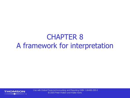 CHAPTER 8 A framework for interpretation