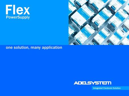 One solution, many application Integrated Electronic Solution PowerSupply Flex.