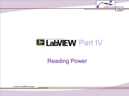 Part IV Reading Power.
