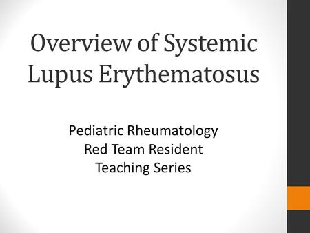 diagnosis of systemic lupus erythematosus pdf