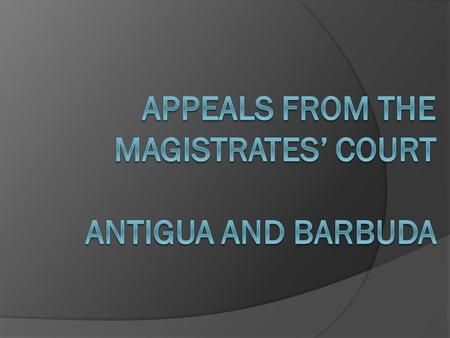 INTRODUCTION Role of Magistrate in Magisterial Appeals.