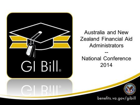 Australia and New Zealand Financial Aid Administrators -- National Conference 2014.