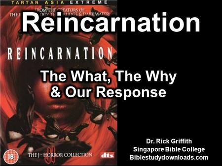Dr. Rick Griffith Singapore Bible College Biblestudydownloads.com.