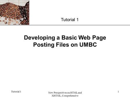 Developing a Basic Web Page Posting Files on UMBC