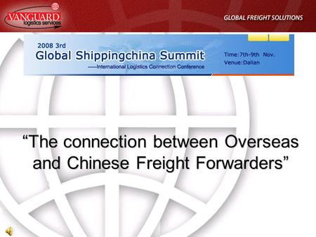 """The connection between Overseas and Chinese Freight Forwarders"""