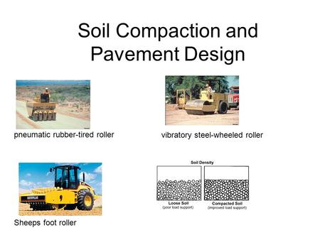 Soil Compaction and Pavement Design