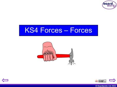 © Boardworks Ltd 2003 KS4 Forces – Forces. © Boardworks Ltd 2003 What is a force? A force is a push, pull or twist.