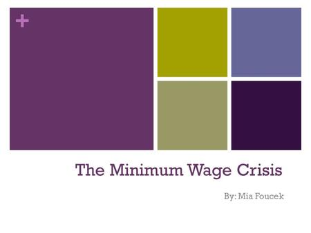 The Minimum Wage Crisis