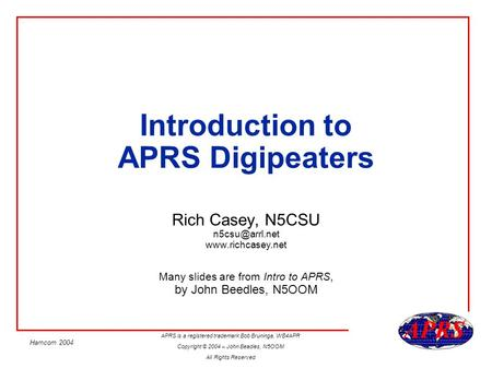 Introduction to APRS Digipeaters