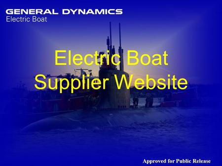 Electric Boat Supplier Website