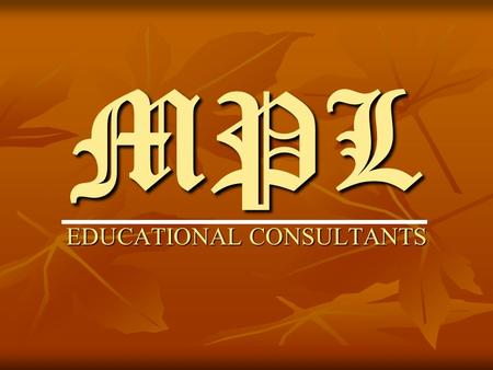 MPL EDUCATIONAL CONSULTANTS. CAREER OPTIONS IN ACCOUNTING & FINANCE.