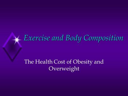obesity - exercise and health essay Obesity is a complex health issue to address obesity results from a combination of causes and contributing factors, including individual factors such as behavior and genetics behaviors can include dietary patterns, physical activity, inactivity, medication use, and other exposures additional.