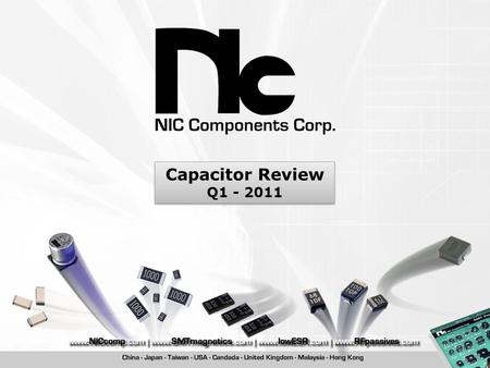 Capacitor Review Q1 - 2011.