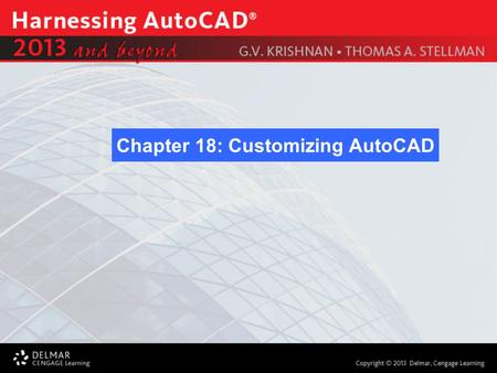 Chapter 18: Customizing AutoCAD. After completing this Chapter, you will be able to do the following: Workspaces Ribbons, Tabs, and Panels Quick Access.