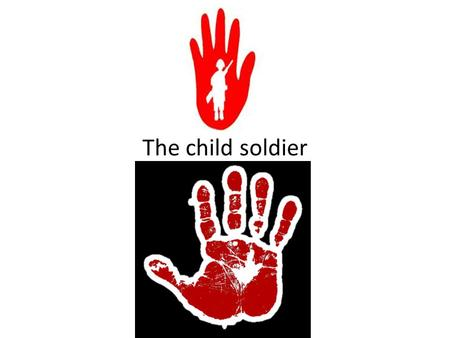 The child soldier. Who is this man? #bethechange 5 Days of Freedom.