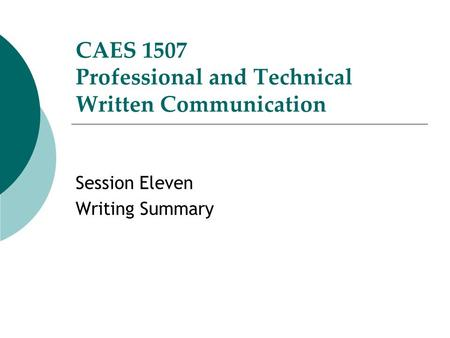 Certificate in Professional Technical Writing