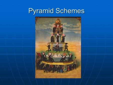 Pyramid Schemes. Time for Society to Change I have written an article awhile back about 'Pyramid Schemes' due to the length of the article I've never.