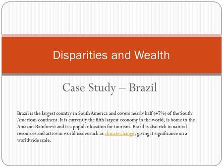 Case study brazil