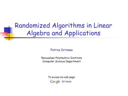 application of linear algebra in computer science pdf