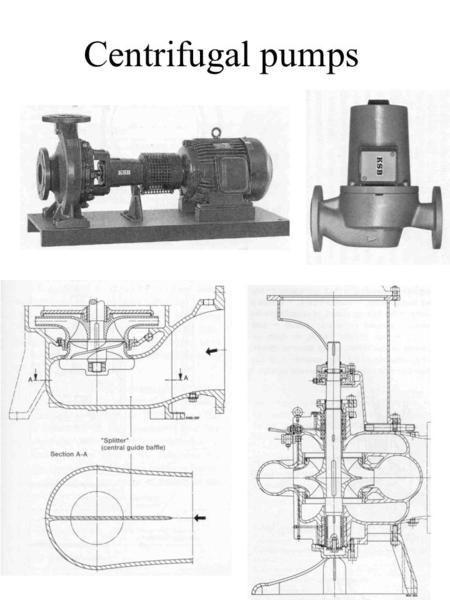 Centrifugal pumps. Impellers Multistage impellers.