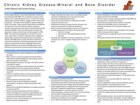 Chronic Kidney Disease-Mineral and Bone Disorder Introduction Chronic kidney disease is commonly linked with mineral and bone disorder (CKD-MBD). This.