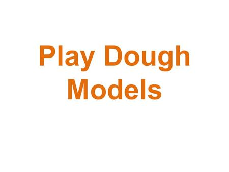 Play Dough Models. What You Will Need ½ Tablespoon Canola Oil ¼ Cup Warm Water 1 Cup Flour 3/8 Cup Salt Bowl Spoon Optional Food Coloring.