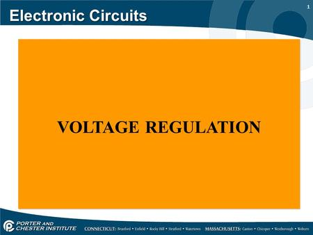 1 Electronic Circuits VOLTAGE REGULATION. 2 Electronic Circuits THE ZENER REGULATOR;
