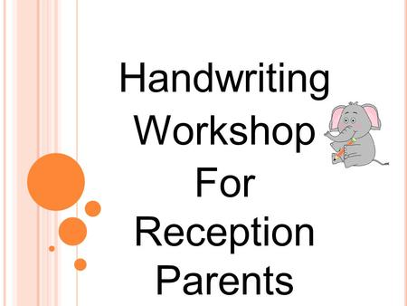 Handwriting Workshop For Reception Parents