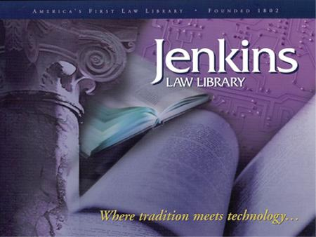 The History of Jenkins Law Library The Law Library Company of the City of Philadelphia, formed in 1802 by 71 Philadelphia lawyers, was the first law library.