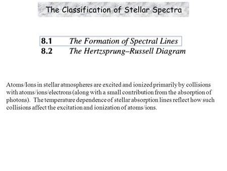 The Classification of Stellar Spectra