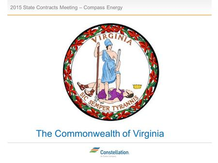 The Commonwealth of Virginia 2015 State Contracts Meeting – Compass Energy Placeholder.