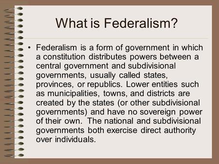 link between federalism and good governance