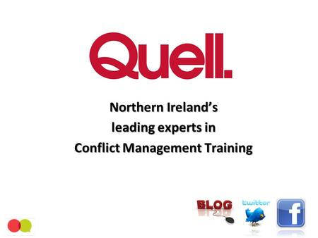 Northern Ireland's leading experts in Conflict Management Training.
