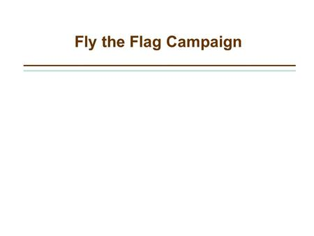 Fly the Flag Campaign. Goals –Raise funds around summer holidays –Increase engagement of house file –Increase house file –Demonstrate value and service.