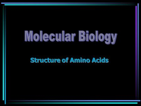 Molecular Biology different kinds of colleges