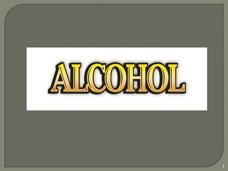 1. 2 ALCOHOL IS A DEPRESSANT Alcohol changes a person's PHYSICAL & EMOTIONAL state.