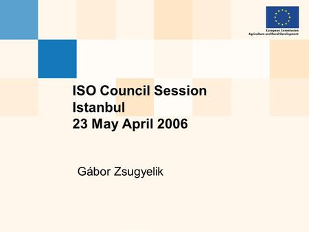 Gábor Zsugyelik ISO Council Session Istanbul 23 May April 2006.