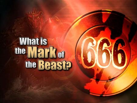 THE BEAST OF REVELATION 13 Q. 1) In order to identify the 'mark' we must first identify the 'beast'. In prophecy, what does a beast represent? –Daniel.