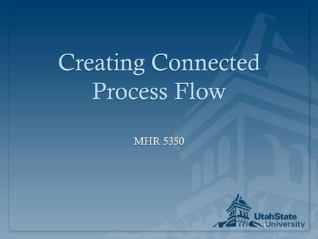 1 Creating Connected Process Flow MHR 5350. 2 Just-in-Time  Right part  Right amount  Right time  Right place.