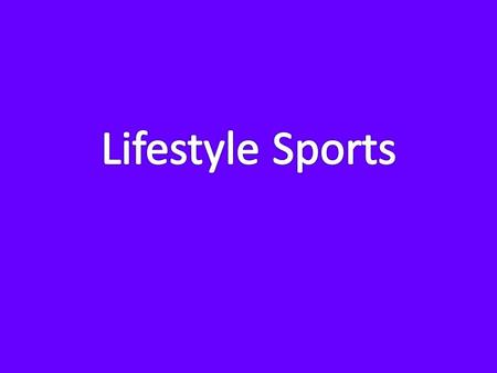 Nature of the Business Type of Business Start-up hybrid retail/service business Sporting goods store Largest indoor sports complex in several townships.