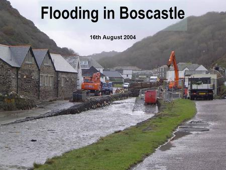 Flooding in Boscastle 16th August 2004. Map of Boscastle. Aerial Photo.