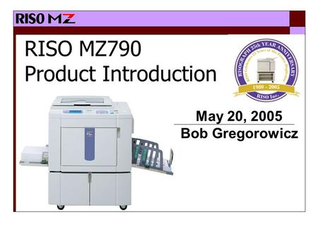 RISO MZ790 Product Introduction