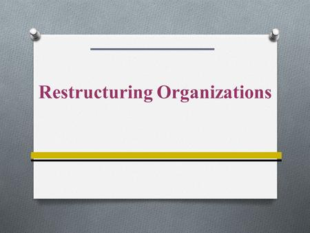 Restructuring Organizations. 14-2 Contingencies Influencing Structural Design Environment Organization Size Technology Organization Goals Worldwide Operations.