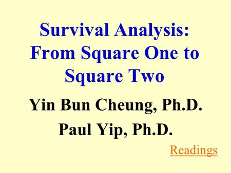 Survival Analysis: From Square One to Square Two