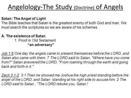 angelology essay